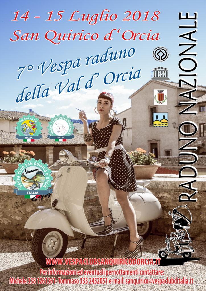 Volantino Vespa raduno 2018