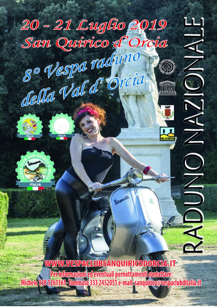 Volantino Vespa raduno 2019 fronte