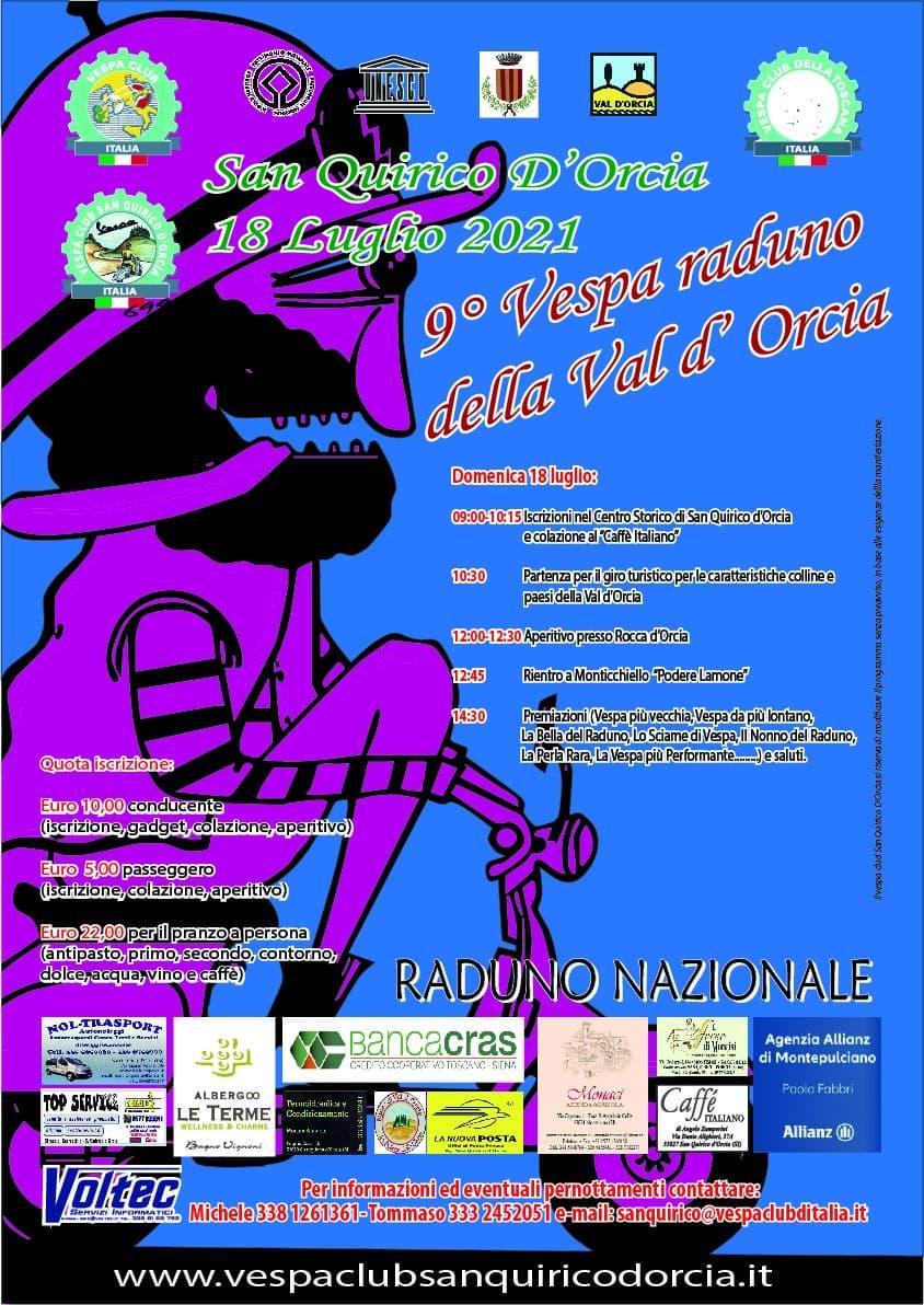 Volantino Vespa raduno 2021
